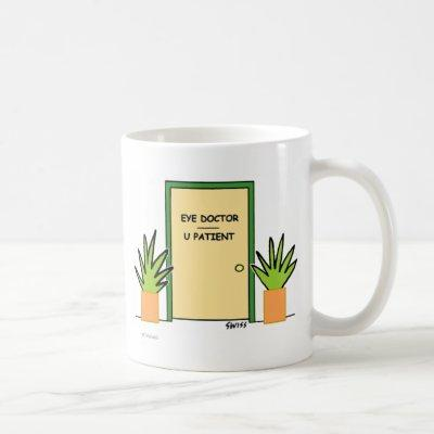 Funny Custom Optometrist Optical Office Cartoon Coffee Mug