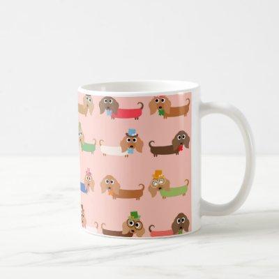 Funny Dachshunds Coffee Mug