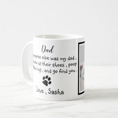 Funny Dog Dad -Father's Day Pet Photo Coffee Mug