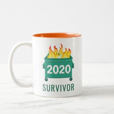 Funny Dumpster Fire 2020 personalized Two-Tone Coffee Mug