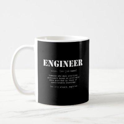 Funny Engineer Dictionary Definition Coffee Mug