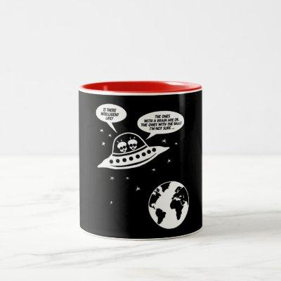 Funny Feminist Gifts, Nerdy Sarcasm Sayings Two-Tone Coffee Mug