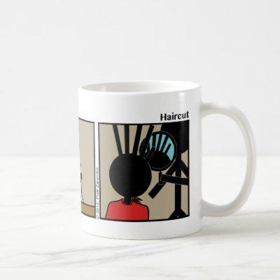 Funny Haircut Stickman Mug - 085
