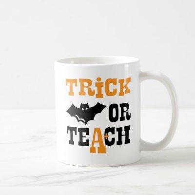 Funny Halloween Teacher Gift Spooky Bat School Coffee Mug