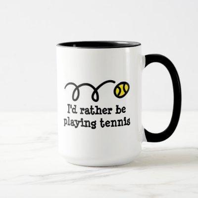 Funny mug for tennis player