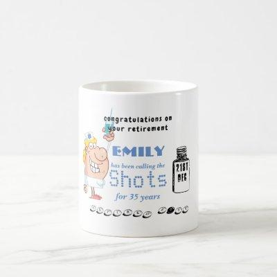 Funny Nurses Retirement Mug Personalized Cartoon