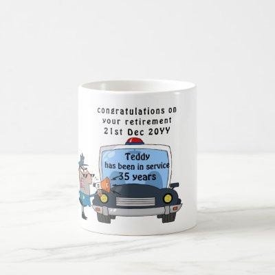 Funny Police Officers Retirement Mug Personalized