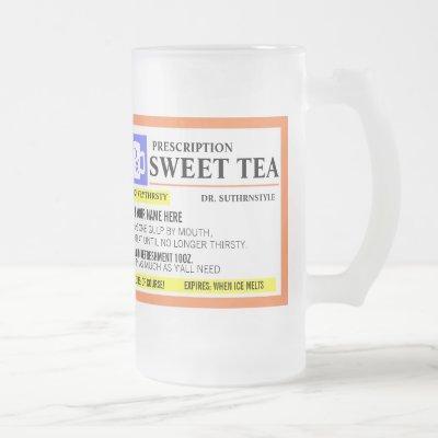 Funny Prescription Sweet Tea Frosted Mug