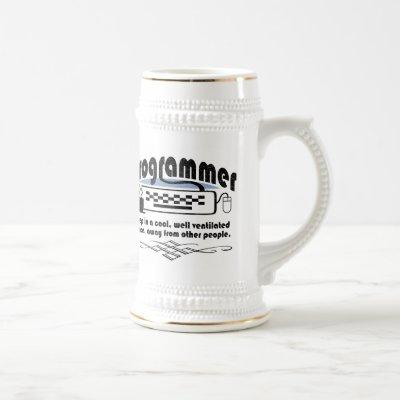 Funny Programmer Beer Stein