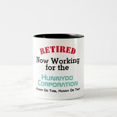 Funny Retired - Working for Spouse - Two-Tone Coffee Mug