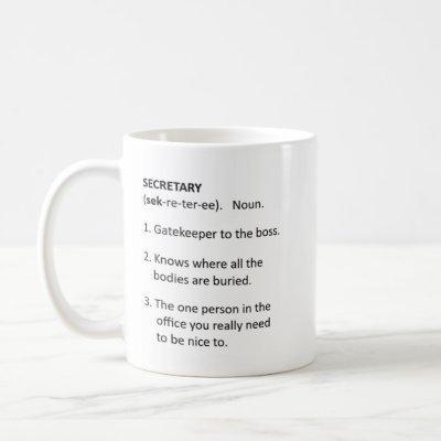 Funny Secretary Mug