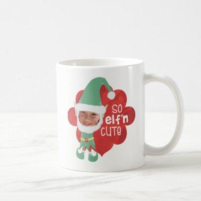 Funny SO ELF'n CUTE Elf Masks for Faces Christmas Coffee Mug