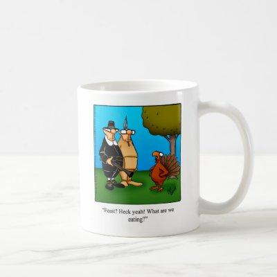 "Funny Thanksgiving Humor ""Feast"" Mug"