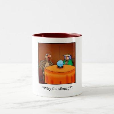 Funny Thanksgiving Turkey Fortune Cartoon Gifts! Two-Tone Coffee Mug
