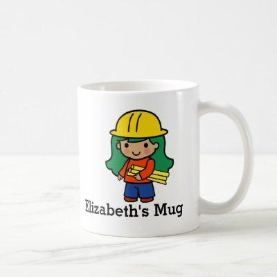 Future Architect/Engineer Girl in Hard Hat Coffee Mug