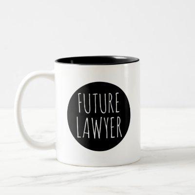 Future Lawyer // Career Profession Celebration Two-Tone Coffee Mug