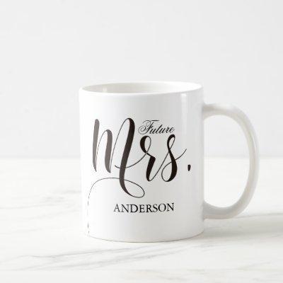 Future Mrs.Calligraphy Personalized Coffee Mug