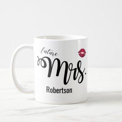 (Future) Mrs. with a kiss coffee mug