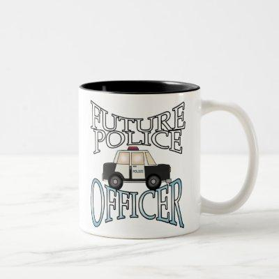 Future Police Officer Two-Tone Coffee Mug