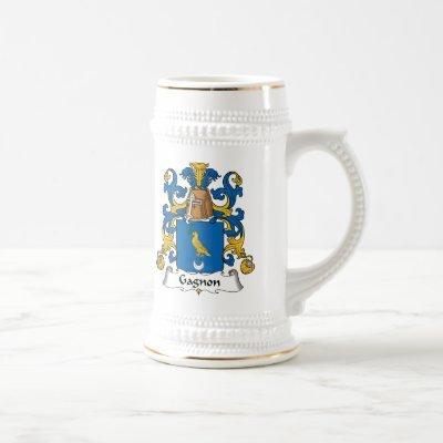 Gagnon Family Crest Beer Stein
