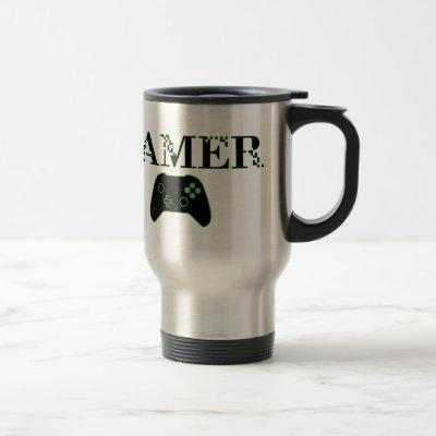 GAMER (Green) Travel Mug
