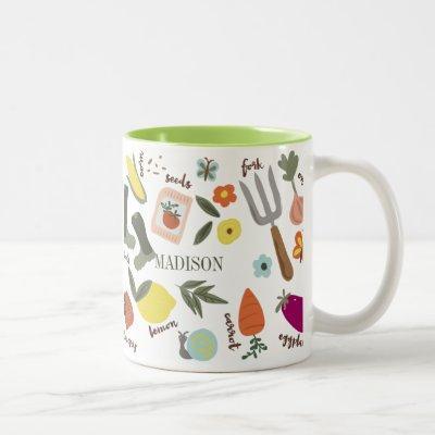 Garden Party Two-Tone Coffee Mug