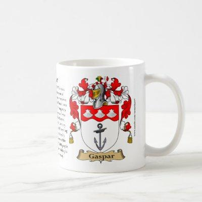 Gaspar, the Origin, the Meaning and the Crest Coffee Mug
