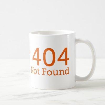 Geeky Error 404 Funny Mug