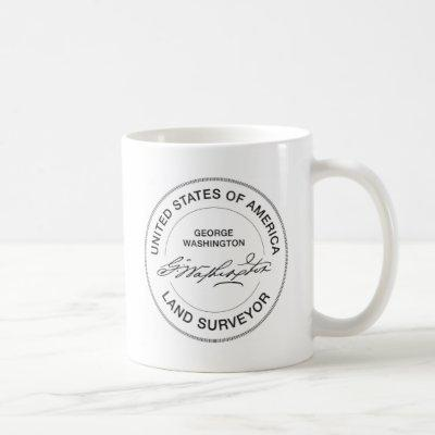 George Washington USA Land Surveyor Seal Coffee Mug