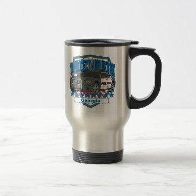 Georgia To Protect and Serve Police Car Travel Mug
