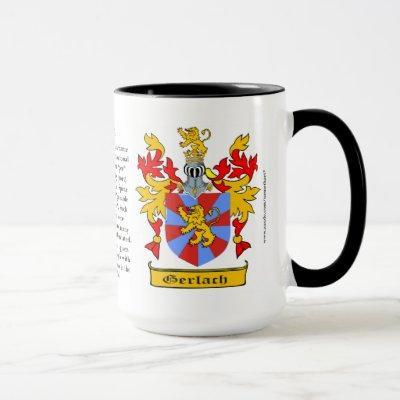 Gerlach Family Coat of Arms Mug