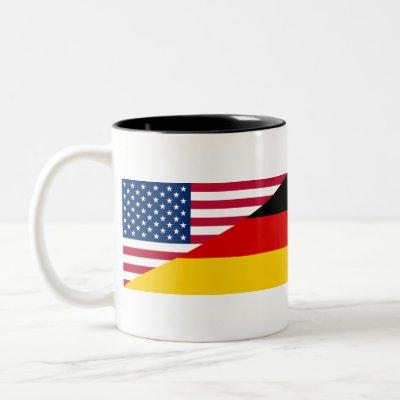 German American Pride US Germany Flag Two-Tone Coffee Mug
