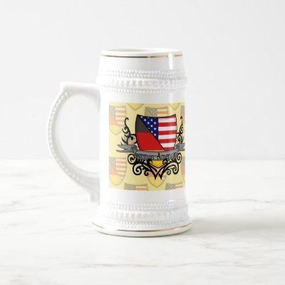 German-American Shield Flag Beer Stein