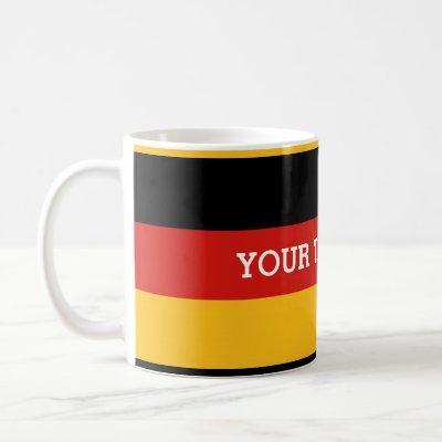 GERMAN FLAG COLORS + your text Coffee Mug