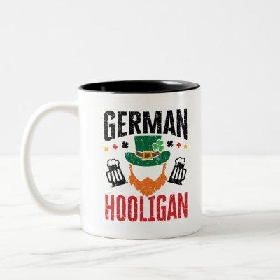 German Hooligan Germany St  Patricks Day Two-Tone Coffee Mug