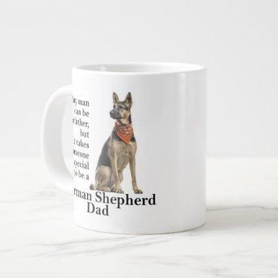 German Shepherd Dad Jumbo Mug