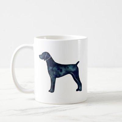 German Shorthaired Pointer Black watercolor Coffee Mug