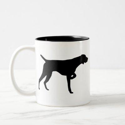 German Shorthaired Pointer Gear Two-Tone Coffee Mug