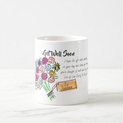 Get Well Soon Gift - Personalized Wellness Message Coffee Mug