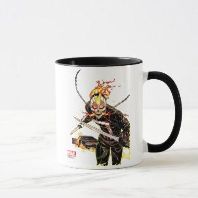 Ghost Rider With Knives Mug