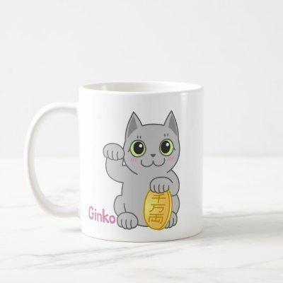 Ginko and Yoshi Lucky cats Mug