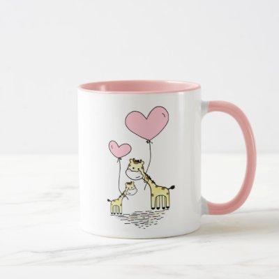 Giraffe Mom & Baby Pink Mother's Day Baby Shower Mug