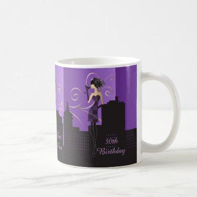 Girl Night Out | Purple Coffee Mug
