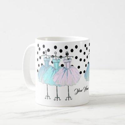 girly  monogrammed coffee mug, your name coffee mug