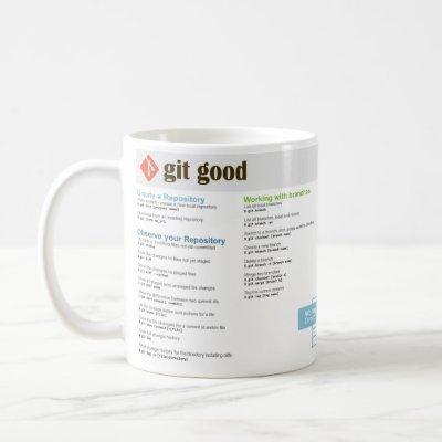 'Git Good' Git Cheatsheet Mug