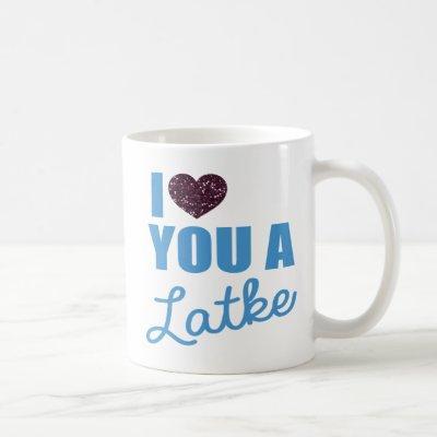 Glitter hearts and Latkes Coffee Mug
