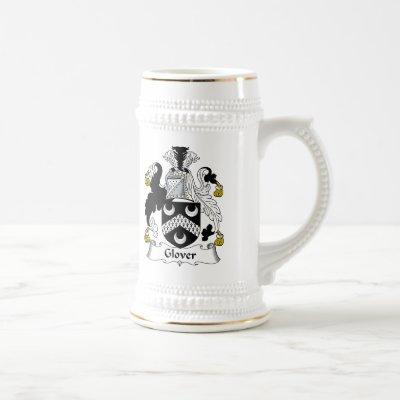 Glover Family Crest Beer Stein