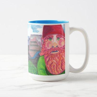 Gnome Selfie Two-Tone Coffee Mug