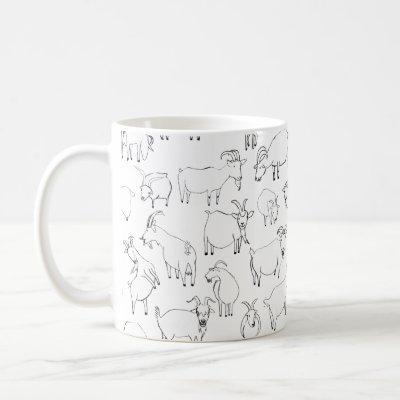 Goats Playing – Transparent (choose your own) Coffee Mug
