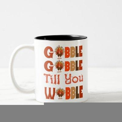 gobble gobble Two-Tone coffee mug